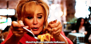 snowbritt:guys she has us figured out (for @aca-bealeve-it): Munch butts and celebrate Halloween. snowbritt:guys she has us figured out (for @aca-bealeve-it)