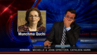 """<p>A name so great that even Stephen Colbert couldn&rsquo;t keep a straight face. via /r/dank_meme <a href=""""https://ift.tt/2HWyA9O"""">https://ift.tt/2HWyA9O</a></p>: Munchma Quchi  HEROE$: MICHELLE &JOHN SPREITZER, CATHLEEN HARRI <p>A name so great that even Stephen Colbert couldn&rsquo;t keep a straight face. via /r/dank_meme <a href=""""https://ift.tt/2HWyA9O"""">https://ift.tt/2HWyA9O</a></p>"""