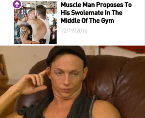 Gym, The Middle, and Man: Muscle Man Proposes To  His Swolemate In The  Middle Of The Gym  12/19/2016   WS RLD