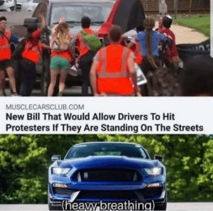 "Alexa, play ""let the bodys hit the floor"": MUSCLECARSCLUB.COM  New Bill That Would Allow Drivers To Hit  Protesters If They Are Standing On The Streets  F(heavy breathing) Alexa, play ""let the bodys hit the floor"""