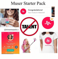 Muser starter pack😂🙌🏼 also requested QOTD- what's your favorite social media app?: Muser Starter Pack  Congratulations!  Your musical is featured  TALENT  Calolstarterpacks.S  Baby Ariel  baby ariel  Twitter: TheBabyAriel  Follow My New  musically  59 2.26M 90  following  fans likes  following Muser starter pack😂🙌🏼 also requested QOTD- what's your favorite social media app?