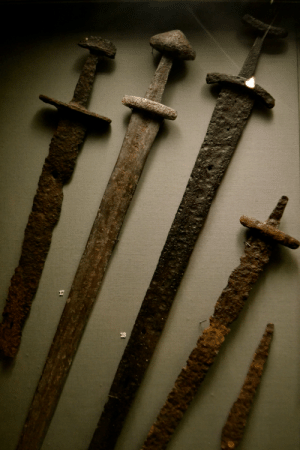 Tumblr, Blog, and Http: museum-of-artifacts:  Viking swords found in Ireland. c. 10th century AD