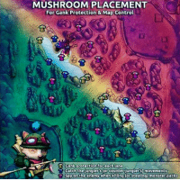Memes, Monster, and Twitch: MUSHROOM PLACEMENT  For Gank Protection & Map Control  Cank protection for each lane  Catch the junglers or counter unglers) movements  Spy on the enemy when killing (or stealing) monster packs xd  = LeagueMemes =  Wingolos www.youtube.com/c/wingolos www.twitch.tv/wingolos