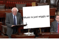 Music, Air, and Just: Music is just wiggly air