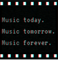 Music, Today, and Usic: Music today.  usic tomorTow