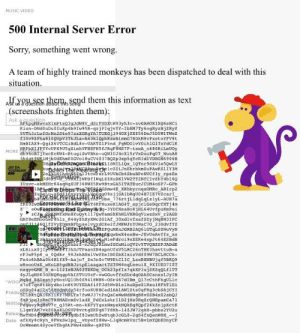 This isn't quite the music video I was looking for: MUSIC VIDEO  500 Internal Server Error  Sorry, something went wrong  A team of highly trained monkeys has been dispatched to deal with this  situation  Alu ee them, send them this information as text  (screenshots frighten them)  SVTh3rLwforMn2S6e97sxXGRgYA7TUKGj3940XjSX256DeTSD5W1TWez  MORE 8596o  wiMjbudEhm00GVo18uCV4037BQ2p3xp5qYcR3d1VDBON6906B  DA  g09sjjsAlbRqU04H7IE7VzcarI  be 776rtjLidqLqLzlyL-AUH7a  MYxNnHYuoytl170wTamSXKhWLVXRGgViwzsxV r2AGD  BFbuselvyxdoxe2fJMKWJnYUWac70 230dvfYz  leFdroi9sXEKe4spJt64ESBdB  fGCwMioQV2vYTVQB2SPJADdE  T 3hDJTPaanZN4apnUfxvSLRC26nTHE3havttuB-a  XLRILROjI  Writte This isn't quite the music video I was looking for