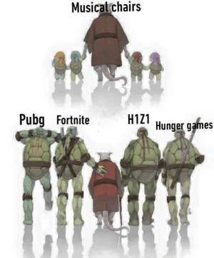 The original and best Battle Royale: Musicalchairs  Pubg Fortnite  H1Z1 Hunger games The original and best Battle Royale