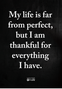 Life, Memes, and 🤖: Mv life is far  from perfect,  but I am  thankful for  everything  I have  Lessons Taught  ByLIFE <3