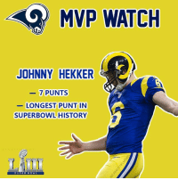 Saints fans punching the air rn this is the team that took their spot 💀💀: MVP WATCH  JOHNNY HEKKER  7 PUNTS  LONGEST PUNT IN  SUPERBOWL HISTORY  SUPER DOWL Saints fans punching the air rn this is the team that took their spot 💀💀