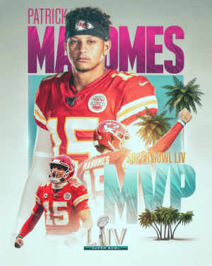 MVPAT.  @PatrickMahomes is the Super Bowl MVP! #SBLIV #ChiefsKingdom https://t.co/9hlh6XrNbD: MVPAT.  @PatrickMahomes is the Super Bowl MVP! #SBLIV #ChiefsKingdom https://t.co/9hlh6XrNbD