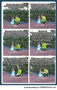 srsfunny:Disney's Peter Pan Doing What He Does Best: Mvtavorite princessIs 8  Yeahbecause she used tohan  Youknowwhoitis  Ariel  ightover there and wewould  talkto eachother allday.  hen shegother tailiback so  ThenIsaid  Someone said she hangsoutatSohere's What I'mthinki  the back where theres lots of Im going.to get a hot túband  to put it on a skateboard  around with me all day  water  「must going to pull her  Icould pull her overby Meri  meMeridacanhavecombats  and äll'three of us can spend all WhereShellshoot her bowand  day together and,we can just be arrowand Ill shoot my slingshot  eredheaded club  and Ariel can judge them  you should probably go to TheMetaPicture.com srsfunny:Disney's Peter Pan Doing What He Does Best