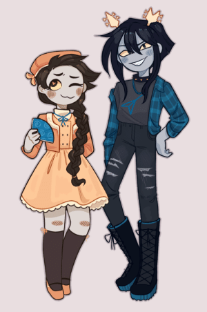 mwahrails:  meet millie suuite and confik fender, my 2 new bastards@sarcasmprodigy made millie for me and then i gave her a…. glucose guardian. i love them both a lot and theyre horrible: mwahrails:  meet millie suuite and confik fender, my 2 new bastards@sarcasmprodigy made millie for me and then i gave her a…. glucose guardian. i love them both a lot and theyre horrible