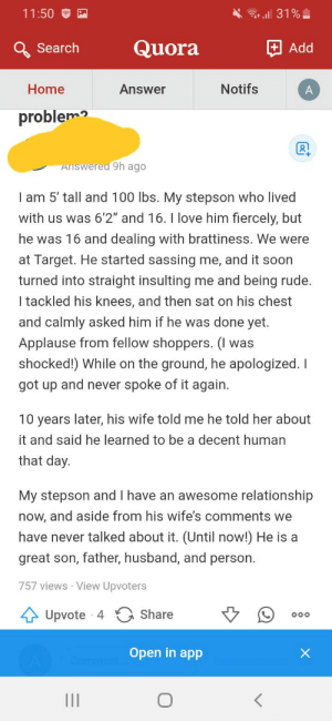 """""""My 14 year old thinks it's funny to challenge me in public where I can't discipline him. What do I do?"""": """"My 14 year old thinks it's funny to challenge me in public where I can't discipline him. What do I do?"""""""