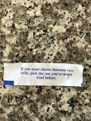 My 2 year olds fortune doesn't fuck around: My 2 year olds fortune doesn't fuck around