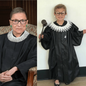 My 3yr old niece is Justice Ruth Ginsburg for Halloween and I'm dead 💀🤣: My 3yr old niece is Justice Ruth Ginsburg for Halloween and I'm dead 💀🤣