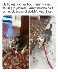 "Bless Up, Dogs, and Love: My 90 year old neighbor hasn't walked  her dog in years so I volunteered to do it  for her. So proud of Buddy's weight loss!  @DrSmashlove  Reddit u/strikeoutsteph To all of u who are like ""omg humans suck I'm so over it that's why I love dogs"" ok first of all bih I AGREE 😂. But just remember that humans have a limitless capacity for love, compassion and understanding and they set an example if only we choose to reflect on it - there are angels among us - @strikeoutsteph u da real MVP - bless up! 🔥❤️"