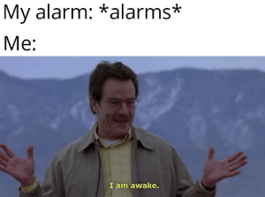 It's rather fascinating how alarms can be so eye opening: My alarm: *alarms*  Me:  I am awake. It's rather fascinating how alarms can be so eye opening