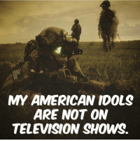 We don't know them all but we owe them all.: MY AMERICAN IDOLS  ARE NOT ON  TELEVISION SHOWS. We don't know them all but we owe them all.