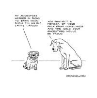 "Dogs, Http, and Cold: MY ANCESTORS  WORKED IN PACKS  TO BRING DOWN  BISON. I'M AN OLD  LADY'S LAPDOG  YOU PROTECT A  MEMBER OF YOUR  PACK FROM LONELINESS  AND THE COLD. YOUR  ANCESTORS WOULD  BE PROUD.  @DRAWINGSor DOGS <p>Pack Mentality via /r/wholesomememes <a href=""http://ift.tt/2u6Qz6H"">http://ift.tt/2u6Qz6H</a></p>"