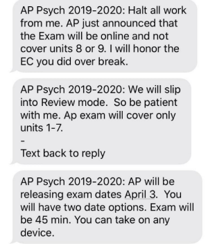 My AP Psychology teacher just told us that AP exams will be online this year. Thoughts?: My AP Psychology teacher just told us that AP exams will be online this year. Thoughts?