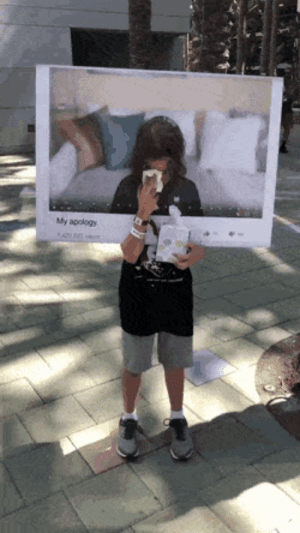 This young savage came dressed as an influencer apology video at #Vidcon2019; Pretty Realistic Depiction.: My apology This young savage came dressed as an influencer apology video at #Vidcon2019; Pretty Realistic Depiction.