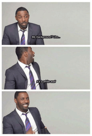 So Idris, could you please describe your background to us?: My background?Um  s awhite wa So Idris, could you please describe your background to us?