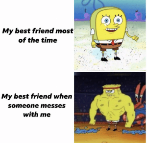 https://t.co/DQqmRsLcz3: My best friend most  of the time  My best friend when  someone messes  with me https://t.co/DQqmRsLcz3