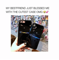 Blessed, Omg, and Free: MY BESTFRIEND JUST BLESSED ME  WITH THE CUTEST CASE OMG 🛑 NO WAY 🛑 @temporarytrend has the cutest cases for FREE 😭 just pay shipping 💕✈️