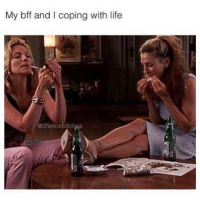 Funny, Life, and Memes: My bff and I coping with life  @2fiercebitchas SarcasmOnly