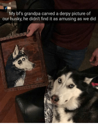 This meken me uncomfortable (u-jubi_k)   Follow @aranjevi for more!: My bfs grandpa carved a derpy picture of  our husky, he didn't find it as amusing as we did This meken me uncomfortable (u-jubi_k)   Follow @aranjevi for more!
