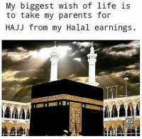 Life, Memes, and Parents: My biggest wish of life is  to take my parents for  HAJJ from my Halal earnings. One day Bi'thniAllah 🕋
