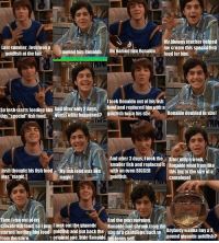 """Drake & Josh Quotes: My biology teacher helped  me create this specialfish  Last Summer, Josh Won a  Inamed him Ronaldo. He namedli Ronaldo.  goldfish at the fair.  food for him.  Itook Ronaldo out of his fish  seipshstans feeding him Andaterealy2days, bowland replaced him With a  this Ruess what happened? goldfish  his STe.  Ronaldo doubled in Size!  special fish food.  And after 3 days, itook the  Afterofilyaweek.  smaller fish and replaced it Ronaldowent fromike  MMisliioodwasliike with an even BIGGER this big tothe size of a  Josh thought his fish food  goldfish.  was """"magic.  magic!  cantelope!  And the peatmomino.  en Iran out  special fish food soljust Itookoutthe gigantic RRonaldohad shrunk from  started feeding higilood goldfish and putback the  size ofacantelope backmo Anybody wanna buy a  pound gigantic goldfish?  from the store.  original one,litte Ronaldo. tisteenyself Drake & Josh Quotes"""