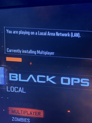 My bo3 has been stuck here for over 24 hours. It's on a disc and I'm on ps4, I've tried everything I can think of and find. Anyone have any suggestions? I don't want to have to buy a new disc.: My bo3 has been stuck here for over 24 hours. It's on a disc and I'm on ps4, I've tried everything I can think of and find. Anyone have any suggestions? I don't want to have to buy a new disc.