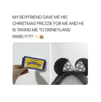 Christmas, Disneyland, and Girl: MY BOYFRIEND GAVE MEHIS  CHRISTMAS PREZZIE FOR ME AND HE  IS TAKING ME TO DISNEYLAND  PARIS !! !?!? Marry him sis 💕 @teengirlclub @teengirlclub @teengirlclub
