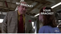 Homie, Memes, and Wshh: MY BRACKET  YOUR  BRACKET That one homie that always thinks their MarchMadness bracket is right...🏀😩😂 Via: @Cycle WSHH