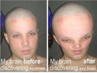 Ayy lmao: My brain before  My brain after  discovering ayyimao discovering ayy lmao Ayy lmao