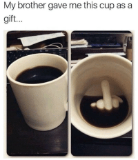 """Lol, Tumblr, and Blog: My brother gave me this cup as a  gift. <p><a href=""""http://lol-coaster.tumblr.com/post/166050904502/up-yours-mug"""" class=""""tumblr_blog"""">lol-coaster</a>:</p><blockquote><p><b><a href=""""https://novelty-gift-ideas.com/up-yours-mug/"""">  Up Yours Mug</a><br/></b>  <br/></p></blockquote>"""