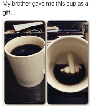 lol-coaster:  Up Yours Mug  : My brother gave me this cup as a  gift. lol-coaster:  Up Yours Mug