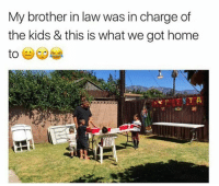 Memes, Home, and Kids: My brother in law was in charge of  the kids & this is what we got home 😂😂😂  Follow us Mexican Problems 👈