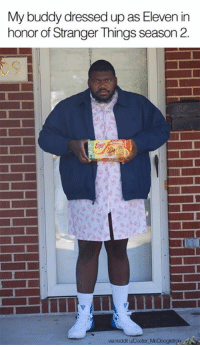 Stranger Things Season: My buddy dressed up as Eleven in  honor of Stranger Things season 2  via reddit uCooter McDoogletron