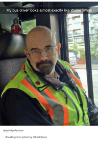 I AM , THE ONE WHO DRIVES: My bus driver looks almost exactly like Walter White  tastefully offensive  Breaking Bus (photo by OthelloMon) I AM , THE ONE WHO DRIVES