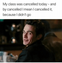 Mean, Today, and Class: My class was cancelled today - and  by cancelled I mean l cancelled it,  because l didn't go Pulled a sneaky one on ya 😉