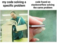 Code, Stackoverflow, and Function: my code solving a  specific problem  code found on  stackoverflow solving  the same problem When writing a function and then googling just to see if theres a better way