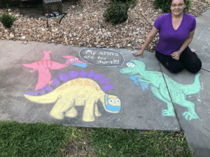 My company did a sidewalk chalk contest for managers while working from home during quarantine. This is my submission.: My company did a sidewalk chalk contest for managers while working from home during quarantine. This is my submission.