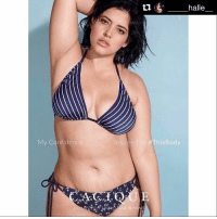 "Af, Beautiful, and Bodies : My Confidence  Inspired by This Body  NEBRYANI  halle Repost @_____halle__ with @repostapp ・・・ ""🔥My beautiful friend @denisebidot in the first unretouched ad to ever appear in Sports Illustrated. Hello, Swimsuit Edition. 👏🏻 · Can we please just take a moment to realize the beauty of this image & what it means for ALL women. Denise, proudly & unapologetically standing up and bridging the gap between reality & society's standards. Levelling the playing field and giving us all a chance to be proud, not ashamed of our bodies. This is everything. · I get DMs and comments all the time from you telling me I'm your inspiration-Denise is my inspiration. I cannot tell you how grateful I am to know her personally, and for the courage she has given me by just being herself & living her dream. She is phenomenal, determined, real af & so kind. · This image & the boundaries it is breaking are monumental. · Hell yes to CHANGE & body equality!! THIS IS REAL! THIS IS HAPPENING! · Keep doing you & don't let anyone stop you. No matter how hard it gets, no matter if you think you will never succeed, keep going. Don't give up, because you can do anything. I am not just saying that, you really can. · 💥 THERE IS NOWRONGWAY · 👉🏻 @thereisnowrongwaytobeawoman · I'm on a new level ☝🏻🙌🏻🙏🏻 · LOVE, SUPPORT & POSITIVITY 💘xo thereisnowrongwaytobeawoman womenempowerment beyourself nofilterneeded noretouch"""