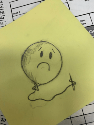 My coworker draws small pieces like this every weekend and leaves it on the back desk. This is my favorite one so far.: My coworker draws small pieces like this every weekend and leaves it on the back desk. This is my favorite one so far.