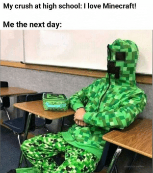 Imagine finding a girl like that: My crush at high school: I love Minecraft!  Me the next day:  WSant 12626 otuffhere Imagine finding a girl like that