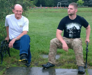 My dad and I found an invisible bench!: My dad and I found an invisible bench!