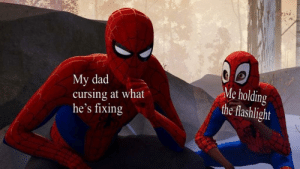 Dad, Dank, and Memes: My dad  cursing at what  he's fixing  Me holding  the flashlight No wonder I'm a foul mouth by 20154Ryan MORE MEMES