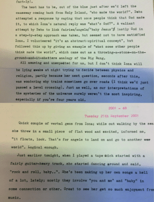 My dad kept a diary from the year I was born [December 1996] to present day. He recently started to type the entries up on his typewriter. He sends me bits that make him smile!: My dad kept a diary from the year I was born [December 1996] to present day. He recently started to type the entries up on his typewriter. He sends me bits that make him smile!